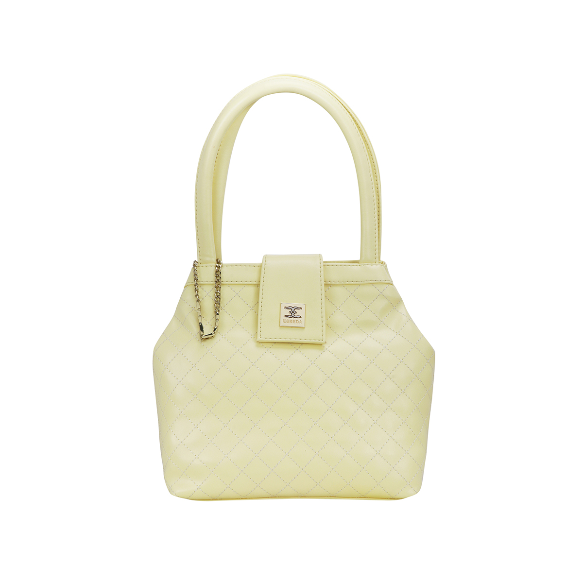 ESBEDA | ESBEDA Light Yellow Color Drymilk Handbag For Women