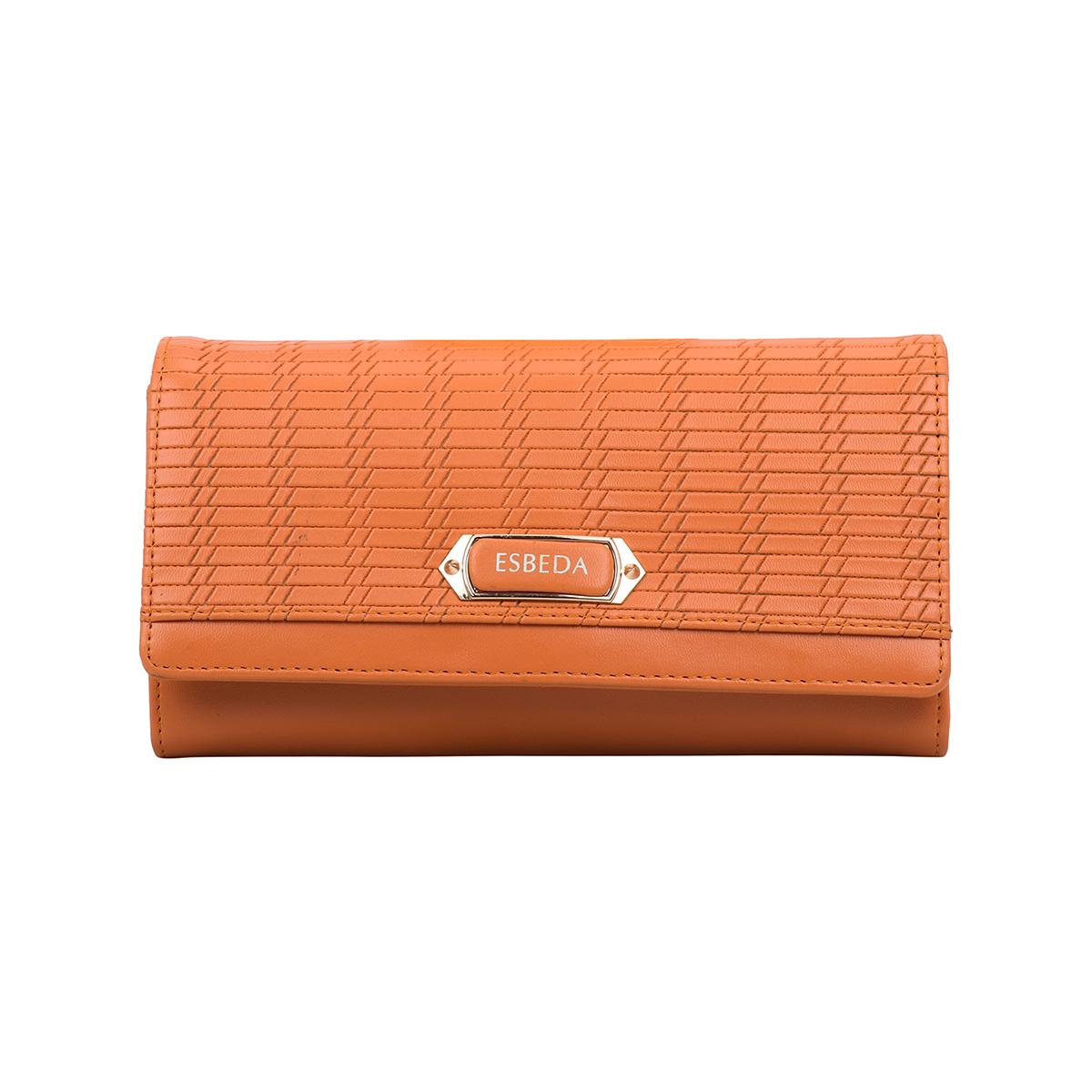 ESBEDA   ESBEDA Orange Color Twill Wallet For Women