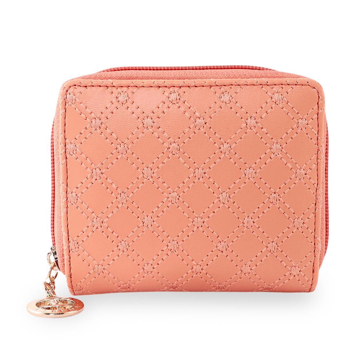 ESBEDA   ESBEDA Light Orange Color Elegance Embroidered Design Wallet For Women