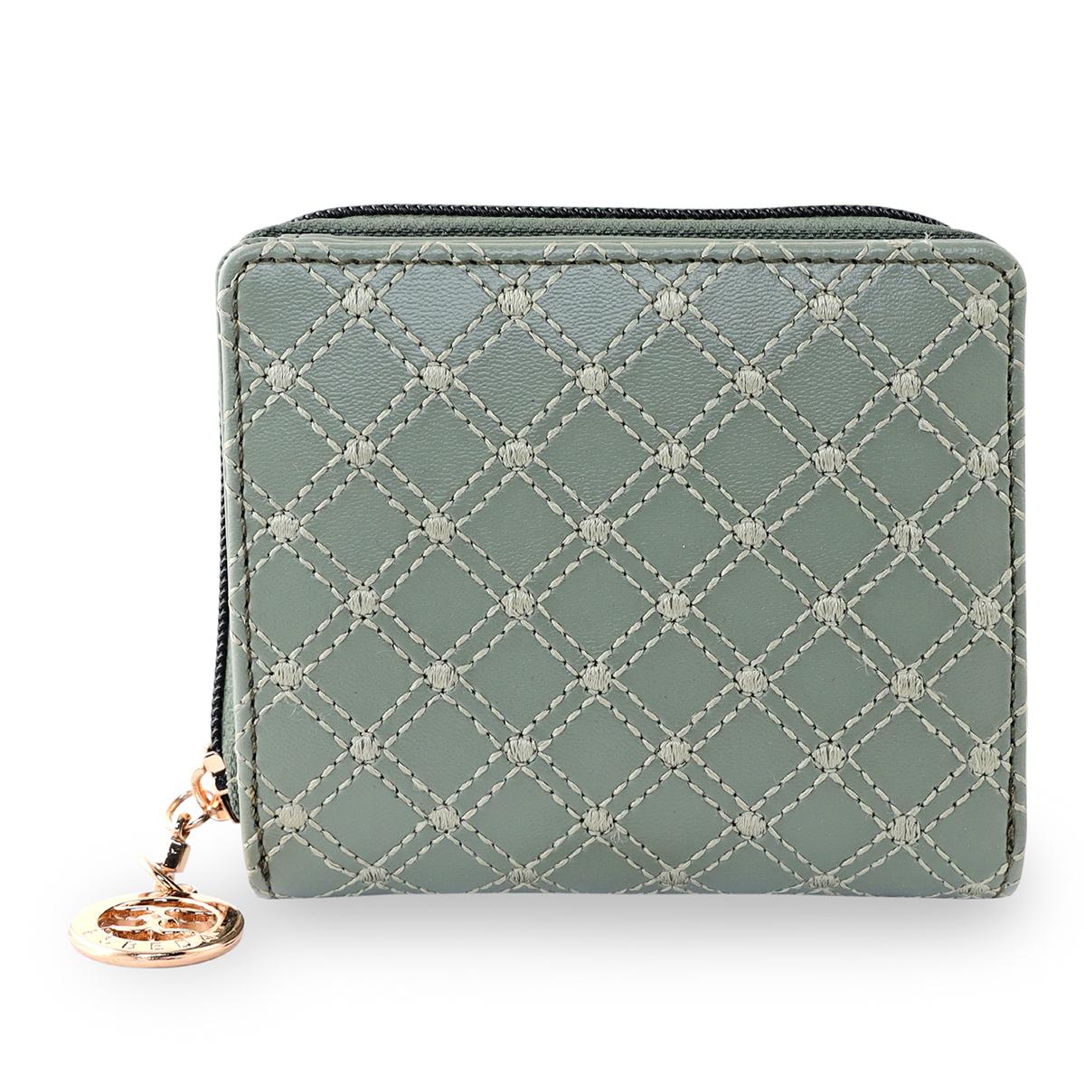 ESBEDA | ESBEDA Olive Green Color Elegance Embroidered Design Wallet For Women