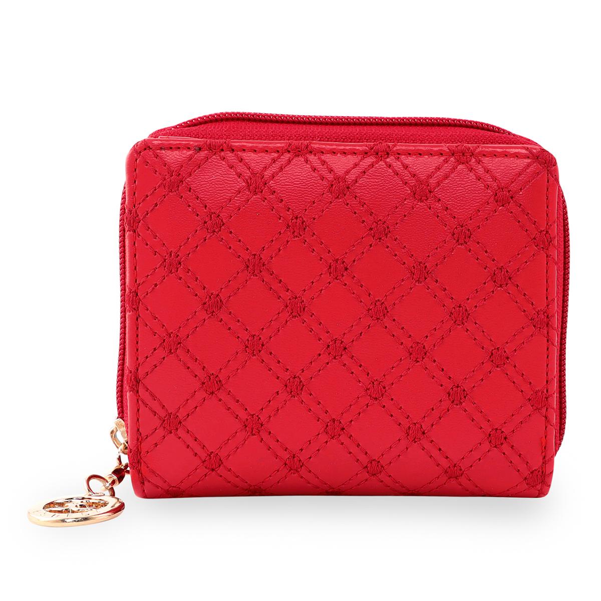 ESBEDA | ESBEDA Red Color Elegance Embroidered Design Wallet For Women