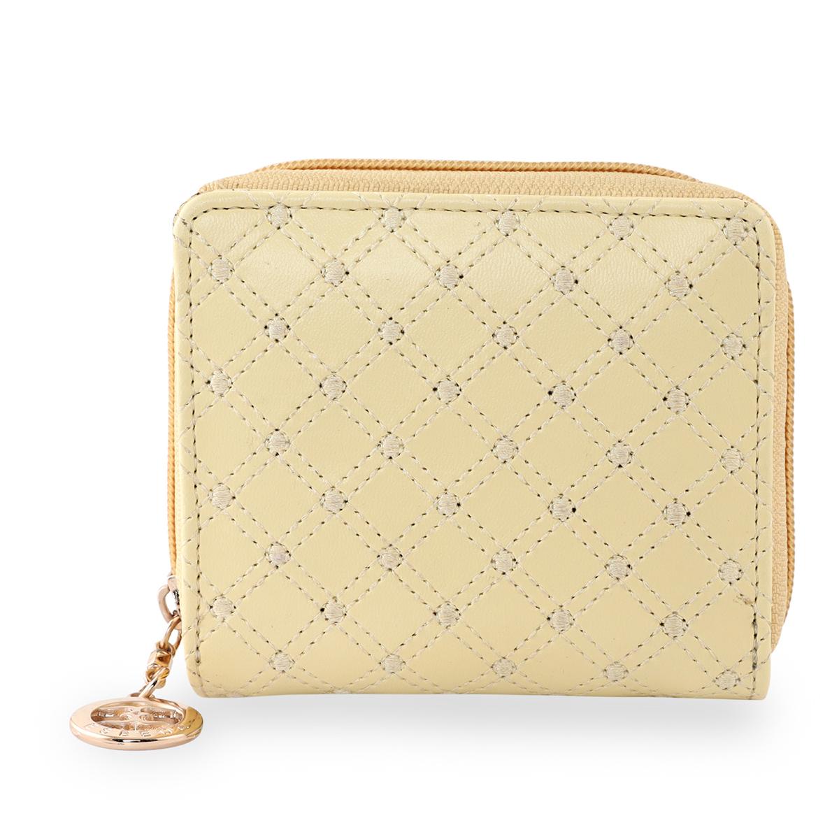 ESBEDA | ESBEDA Light Yellow Color Elegance Embroidered Design Wallet For Women
