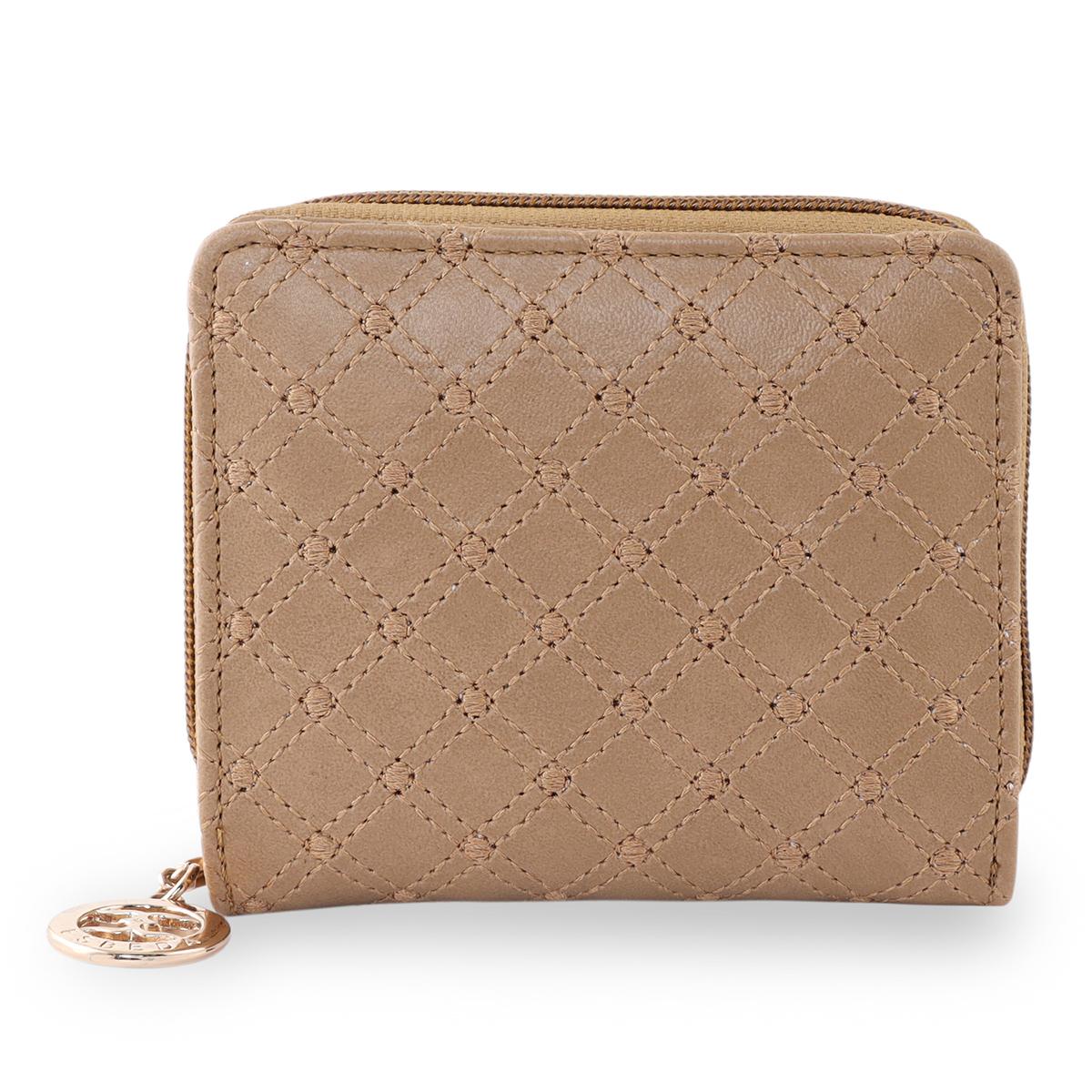 ESBEDA | ESBEDA Beige Color Elegance Embroidered Design Wallet For Women