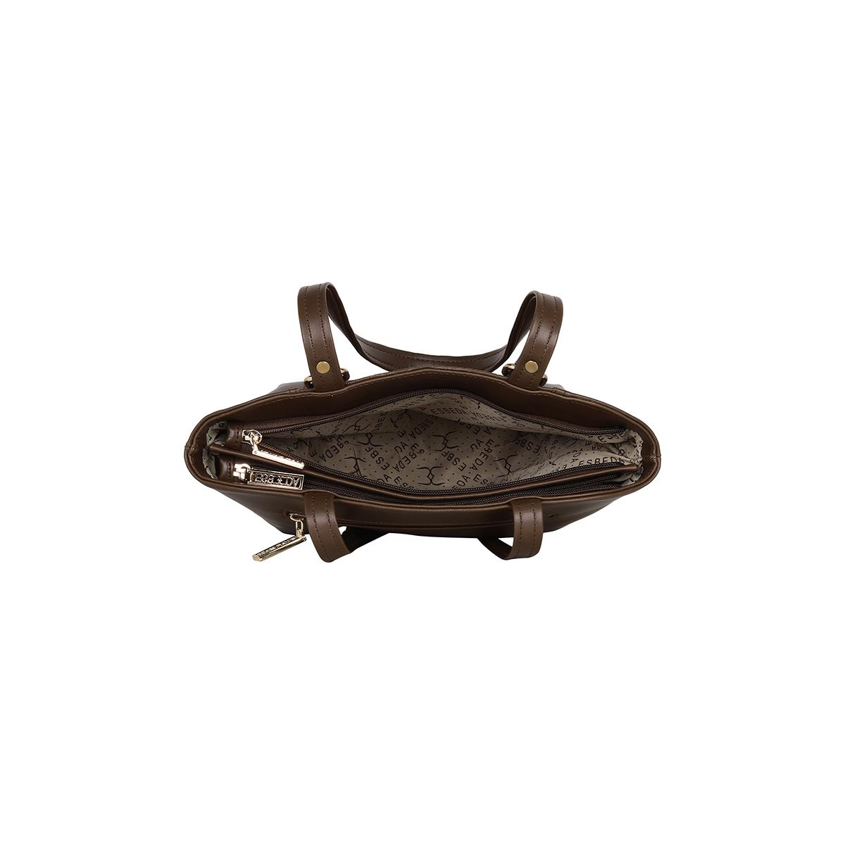ESBEDA | ESBEDA Brown Color Solid Croco Handbag For Women