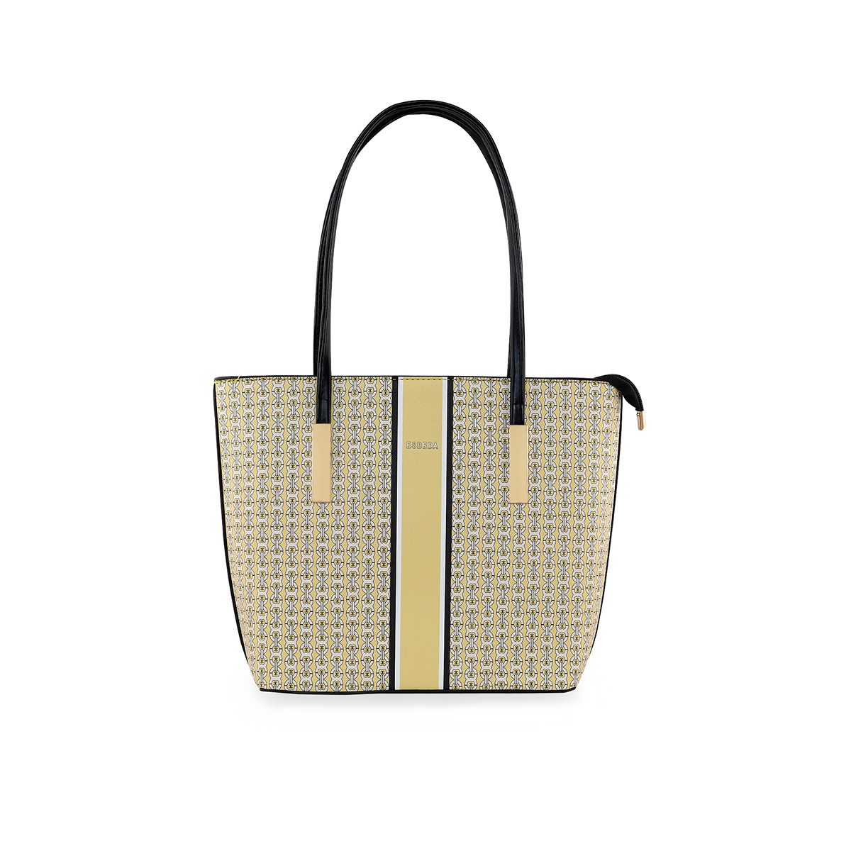 ESBEDA | ESBEDA Yellow Color Logo Printed Basket Handbag For Women