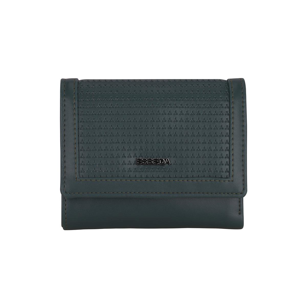 ESBEDA | ESBEDA Green Color Solid Star Emboss Wallet For Women