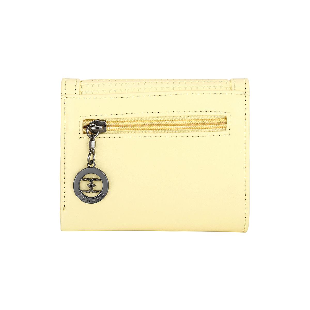 ESBEDA | ESBEDA Yellow Color Solid Star Emboss Wallet For Women