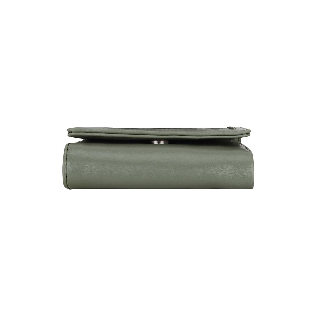 ESBEDA | ESBEDA Olive Color Solid Star Emboss Wallet For Women