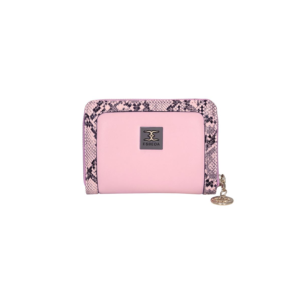 ESBEDA | ESBEDA Baby Pink Color Printed Animal Textured Wallet For Women