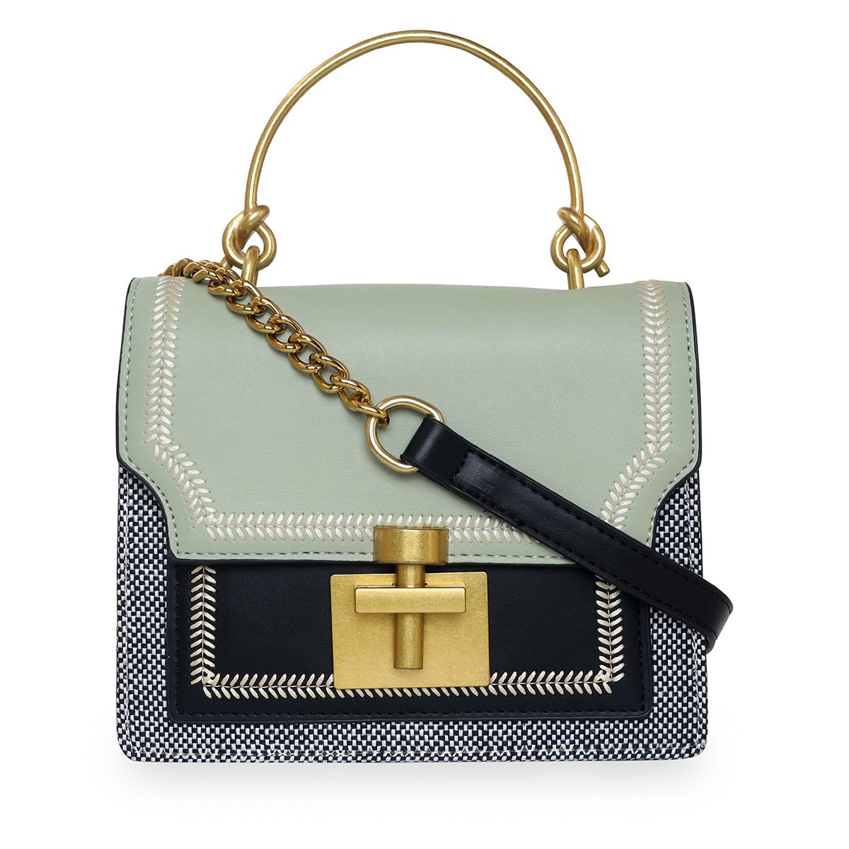 ESBEDA | ESBEDA Pista - Black Color Solid Pattern Crossbody Box Mini Handbag For Women