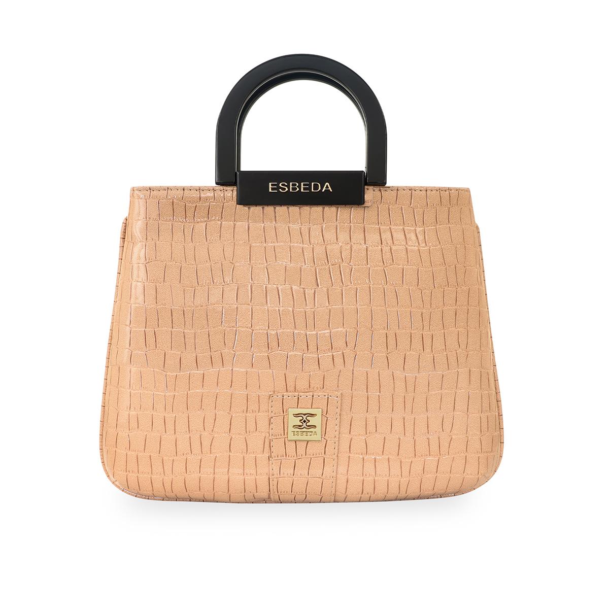 ESBEDA | ESBEDA Beige Color Glossy shell Lightweight Handbag For Women