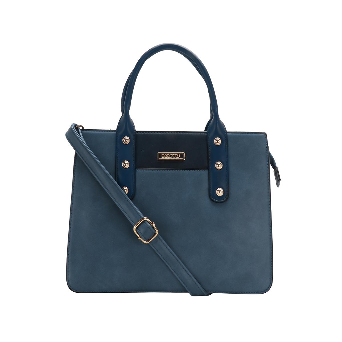 ESBEDA | ESBEDA Blue Colour Antique Beaded Stone Handbag For Women