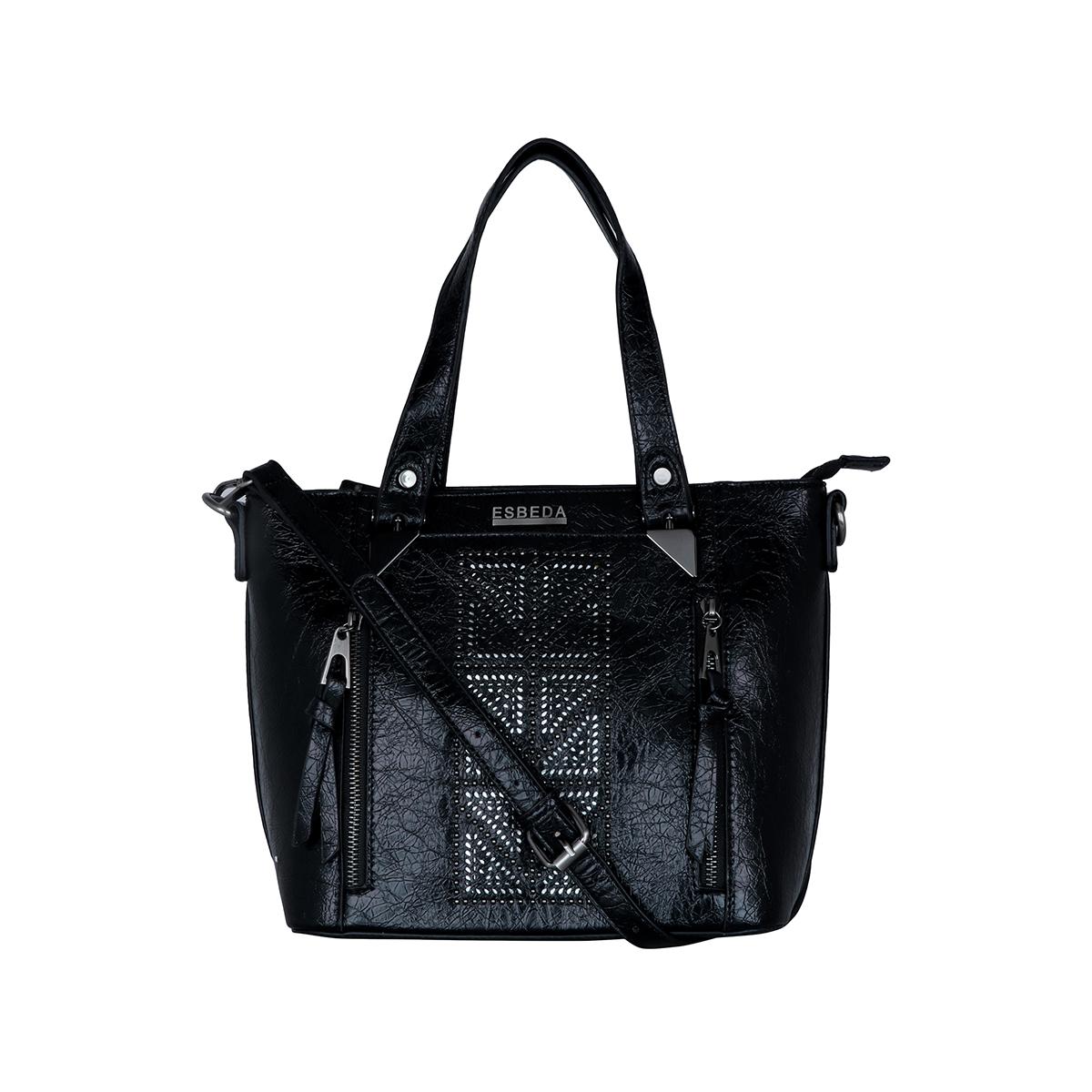 ESBEDA | ESBEDA Black Colour Antique Beaded Stone Handbag For Women