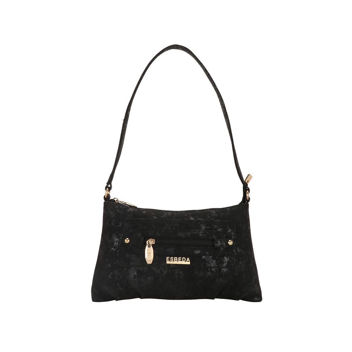 ESBEDA | ESBEDA Black Color Lurex Partywear Handbag For Women