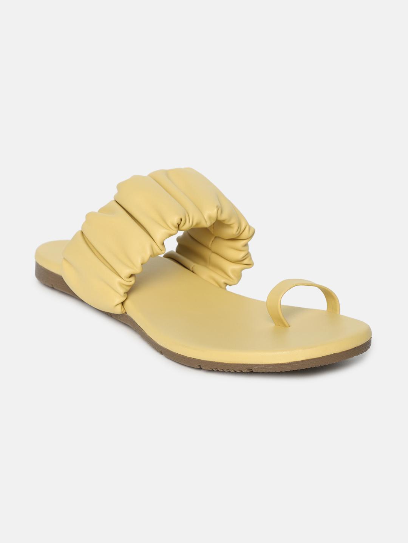 ESTATOS | Estatos  Women Sliders Flat Yellow Slippers