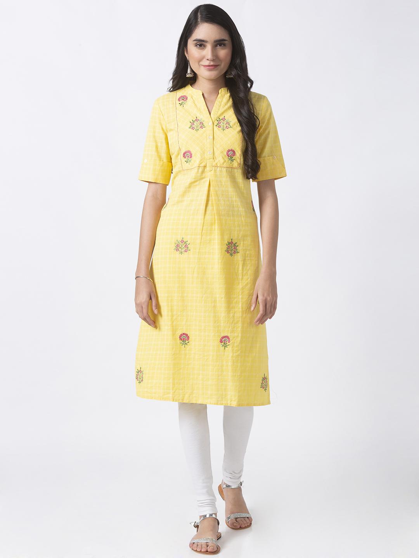 Ethnicity | Ethnicity Yellow Linen Women Tunic
