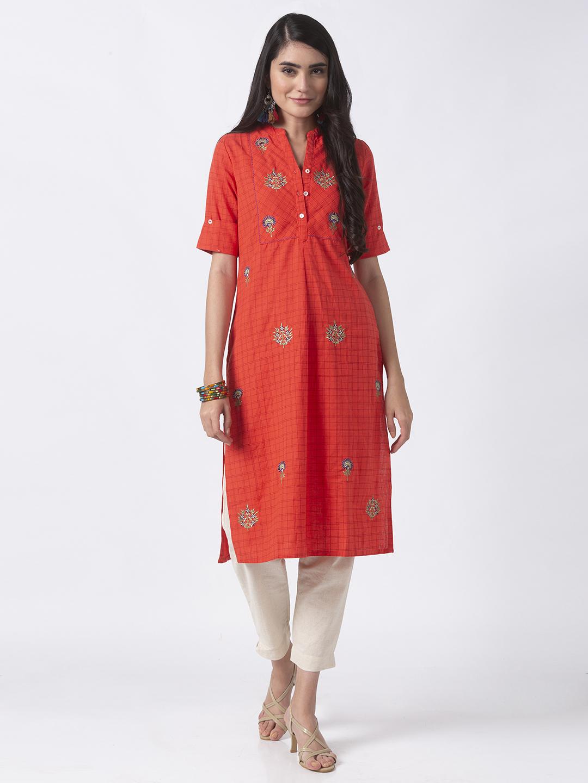 Ethnicity | Ethnicity Coral Linen Women Tunic
