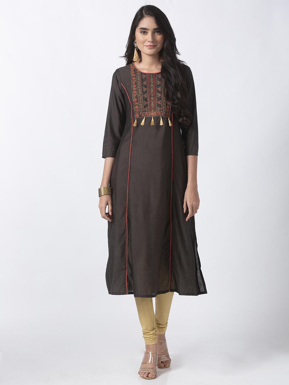 Ethnicity | Ethnicity Olive Gadhwaal Women Kurta