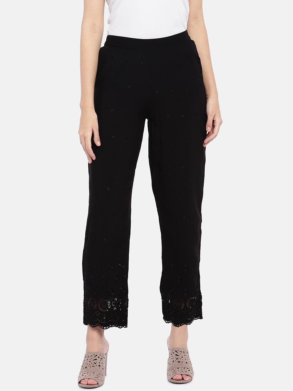 Ethnicity | Ethnicity Black Cambric Women Pants