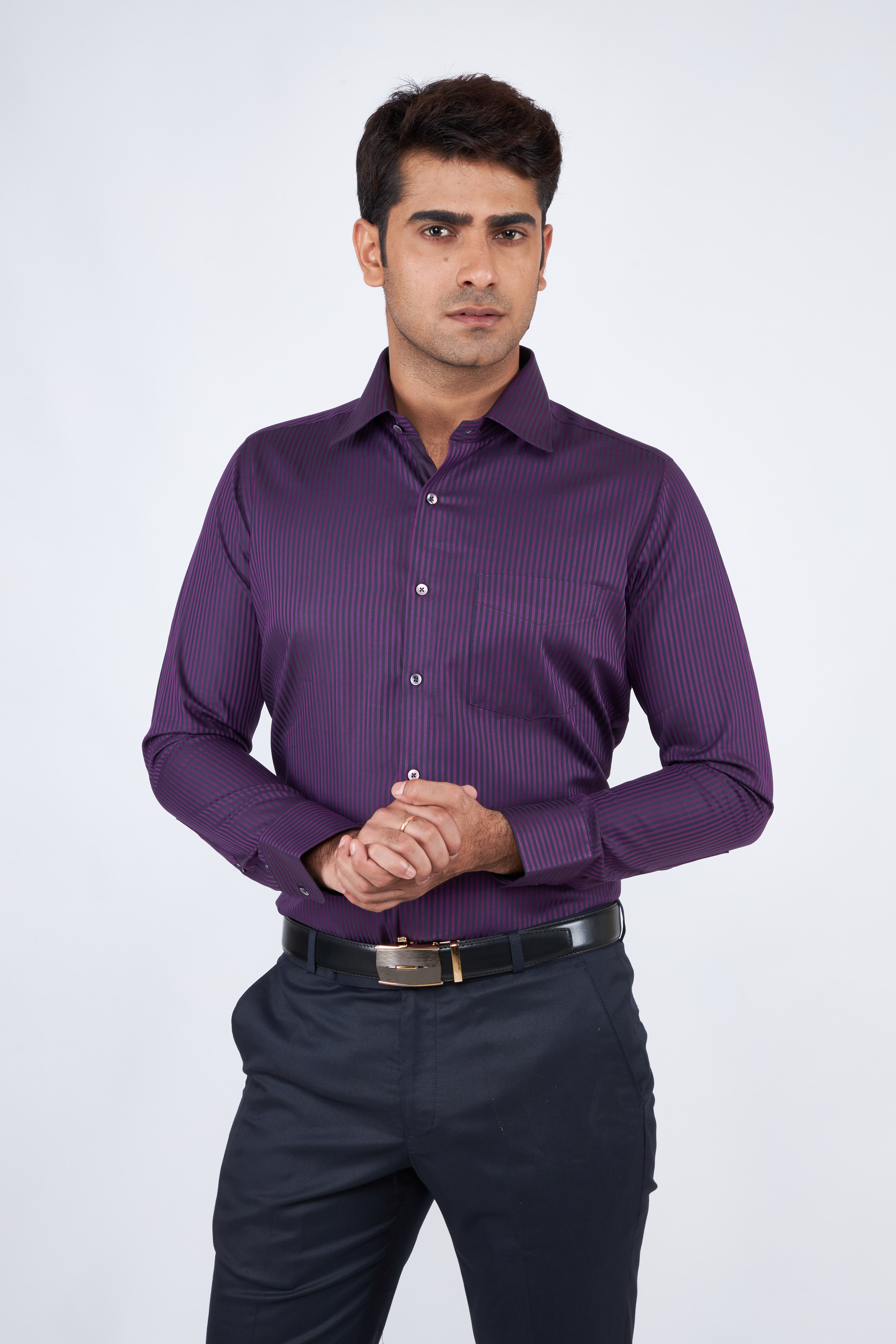 e-gen   Purple Formal Shirt