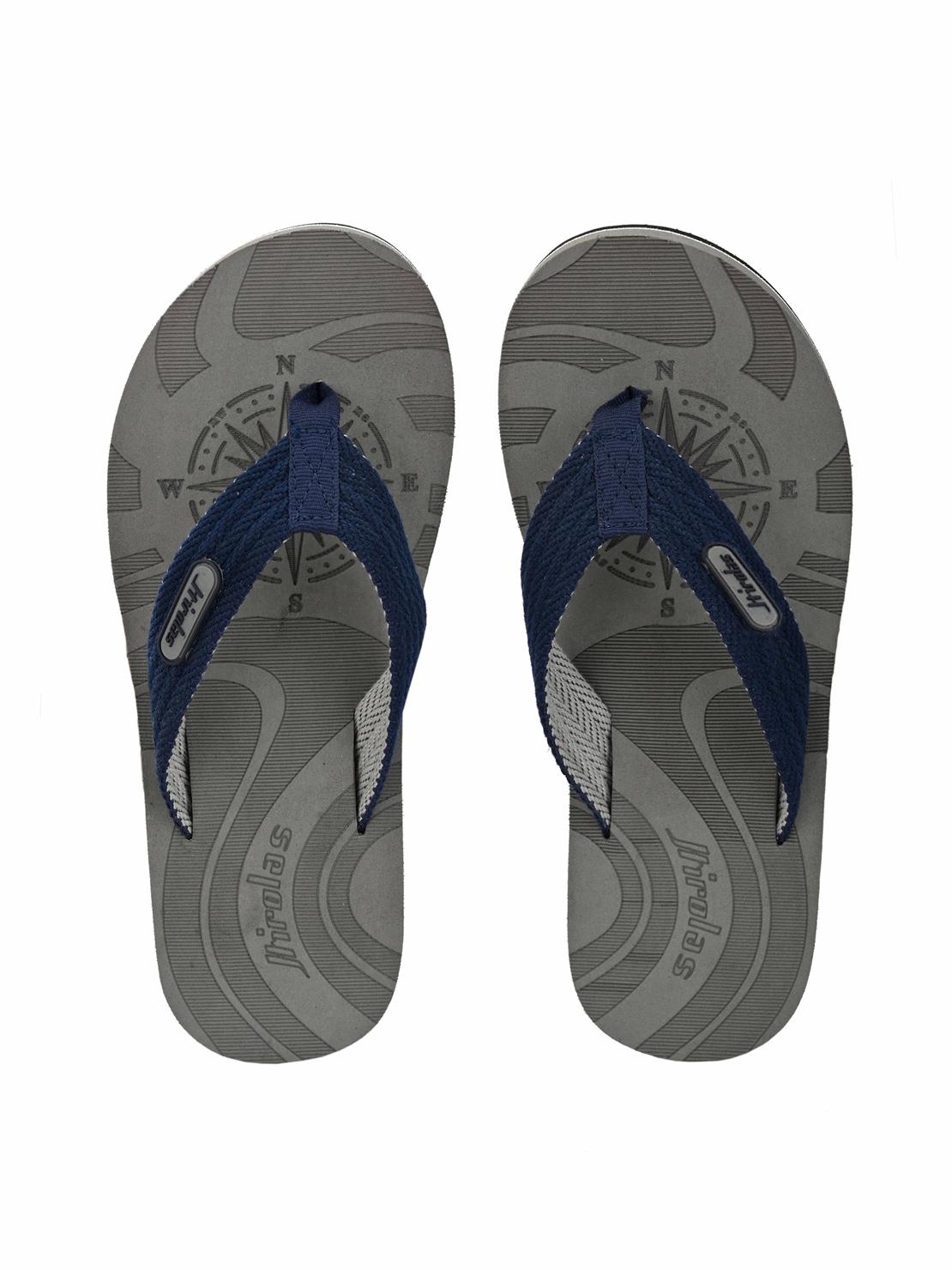 Hirolas | Hirolas Fabrication laser design Flip-Flop Slippers - Grey