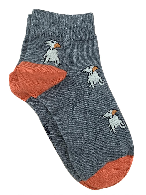Mint & Oak | Mint & Oak Man'S Best Friend Grey Ankle Length Socks for Men