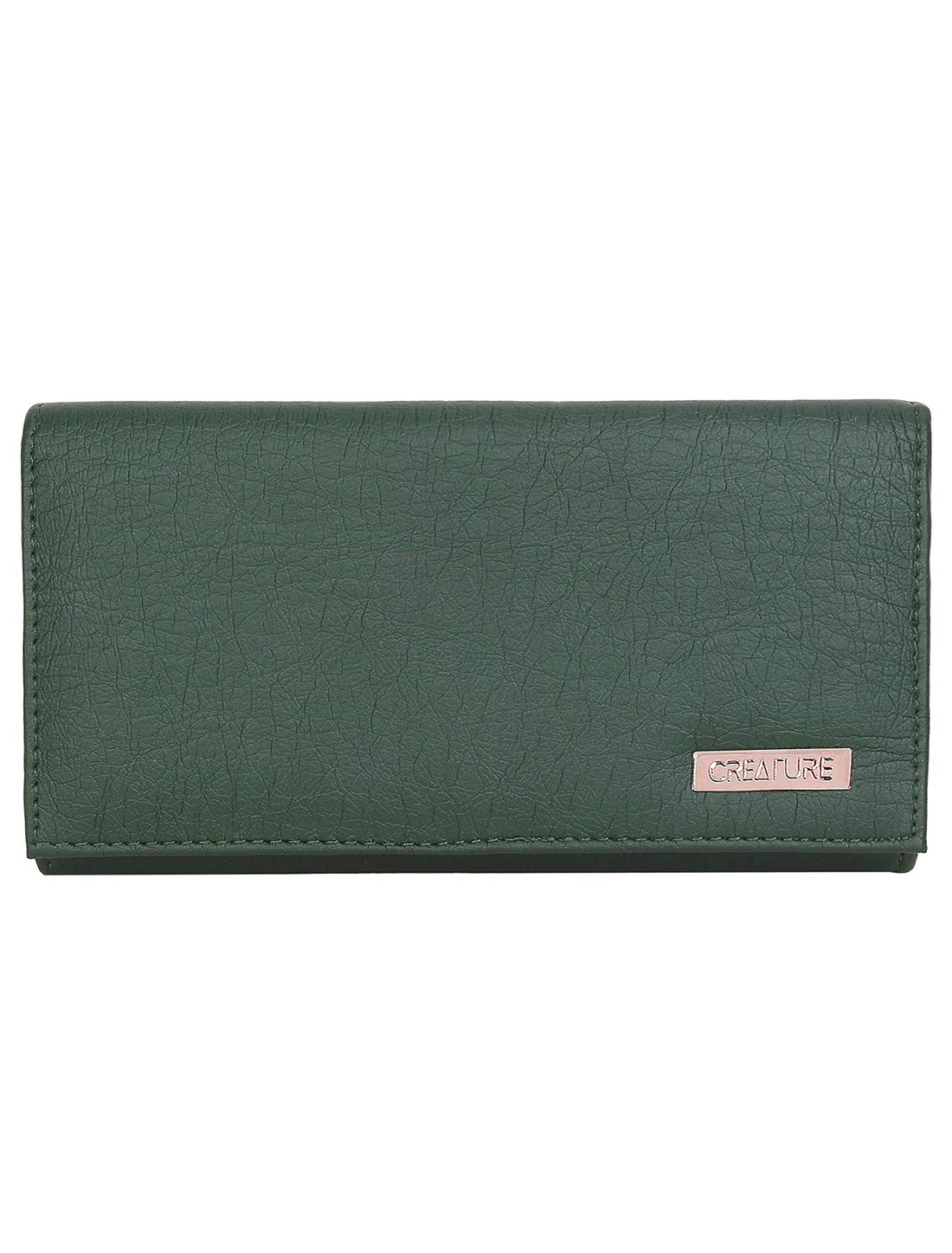 CREATURE   CREATURE Green Stylish PU Clutch for Women