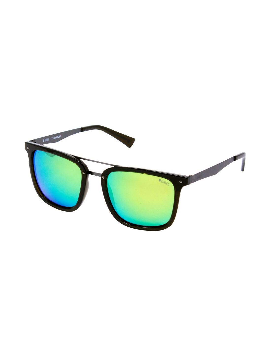 ENRICO | ENRICO Sunfire UV Protected & Polarized Wayfarer Sunglasses for Men ( Lens - Mirrored | Frame - Black)