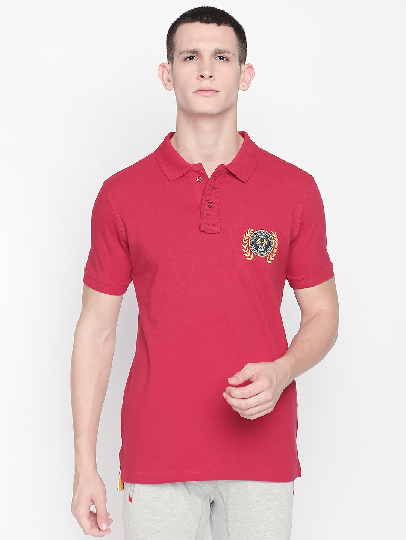 FITZ | Red Solid Polo Tshirt