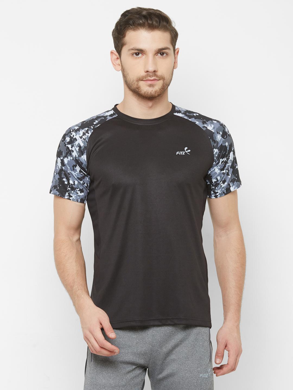 FITZ | Black Printed Tshirt