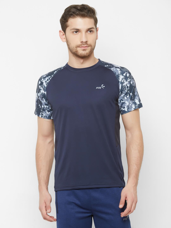 FITZ | Navy Blue Printed Tshirt