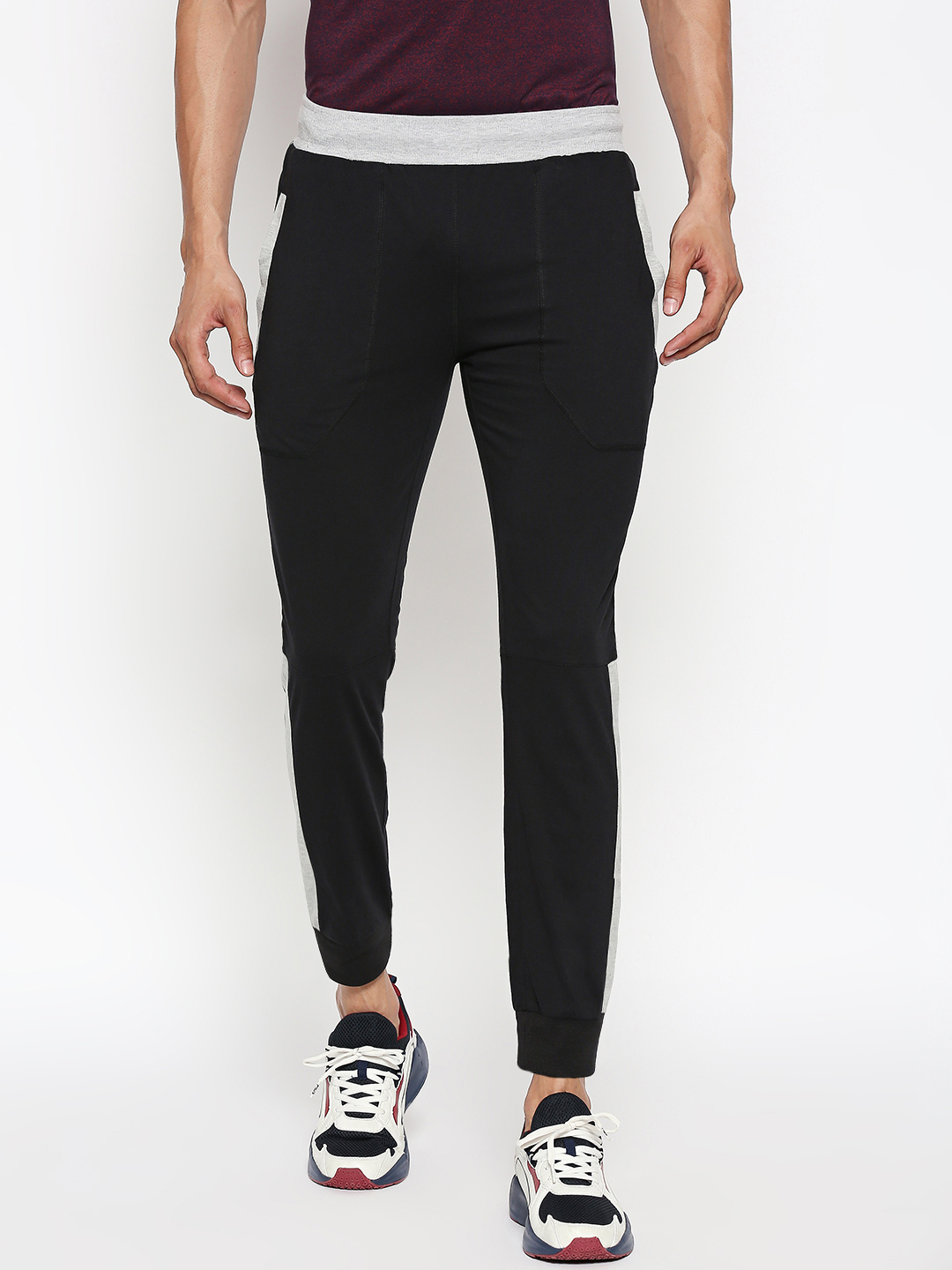 FITZ   black side taped jogger
