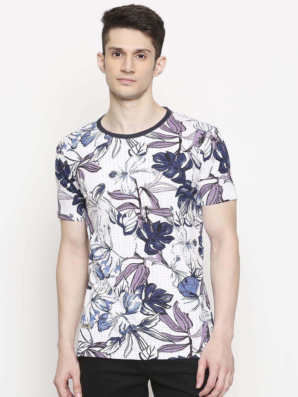 FITZ   Fitz Cotton Round Neck Printed T-Shirt For Men