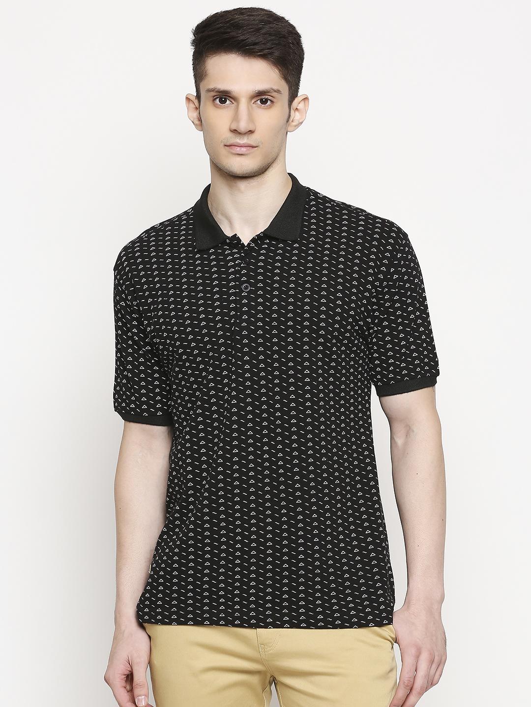 FITZ   Fitz Cotton Polo Neck Printed T-Shirt For Men