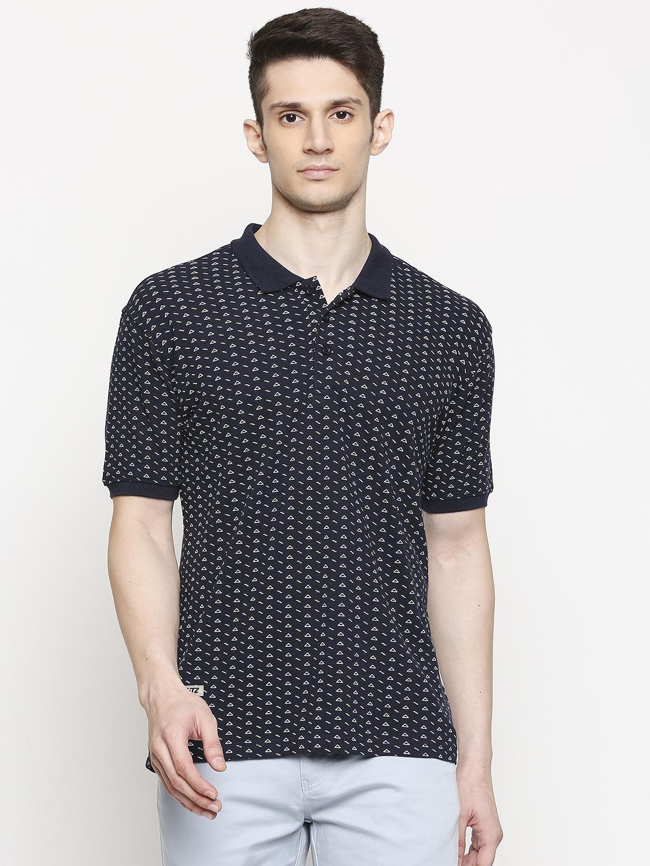 FITZ | Fitz Cotton Polo Neck Printed T-Shirt For Men