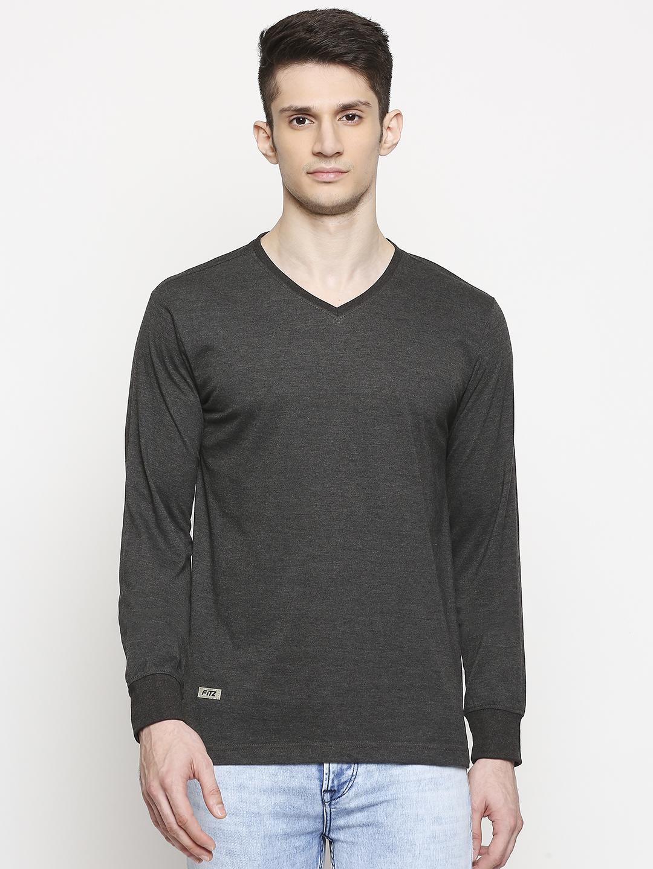 FITZ   Fitz Cotton Blend V-Neck T-Shirt For Men
