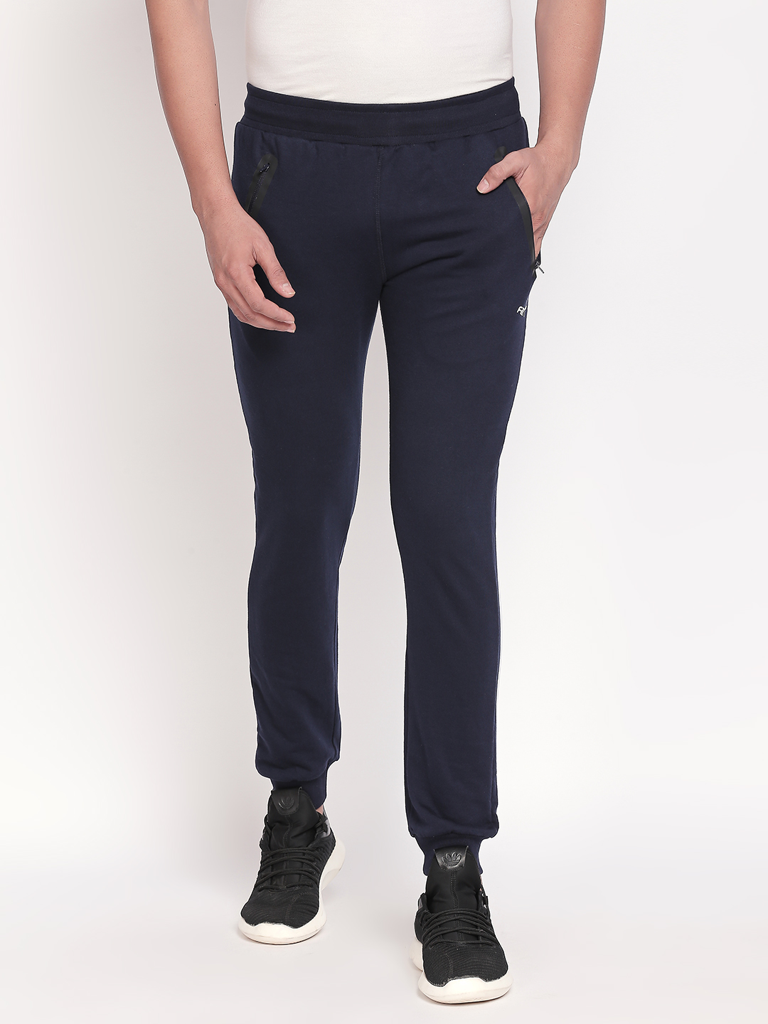 FITZ   Fitz  Cotton Navy blue Loungewear Joggers Track For Mens