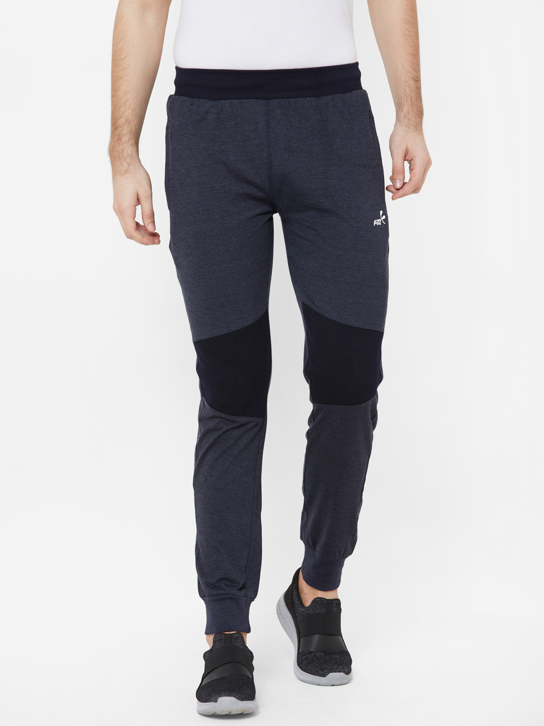 FITZ   Fitz  Cotton Blend Blue Loungewear Joggers Track For Mens