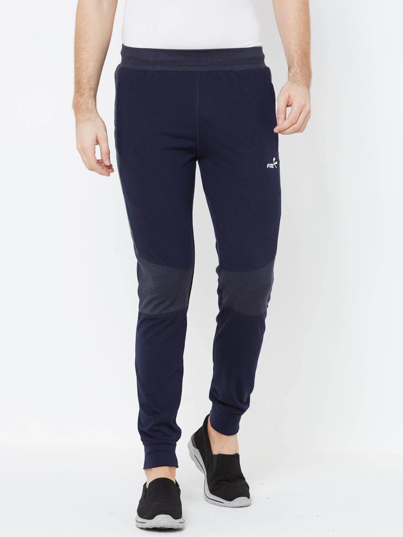 FITZ   navy blue color block jogger