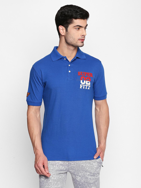 FITZ | Blue Typographic Polo Tshirt