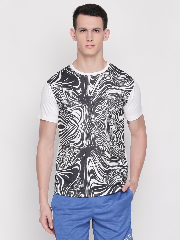 FITZ | White Printed Tshirt