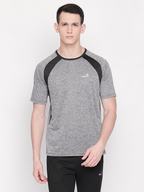 FITZ | Grey Color Block Tshirt