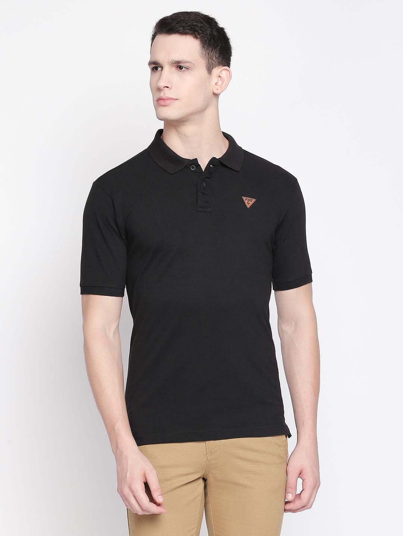FITZ   Black Solid Polo Tshirt