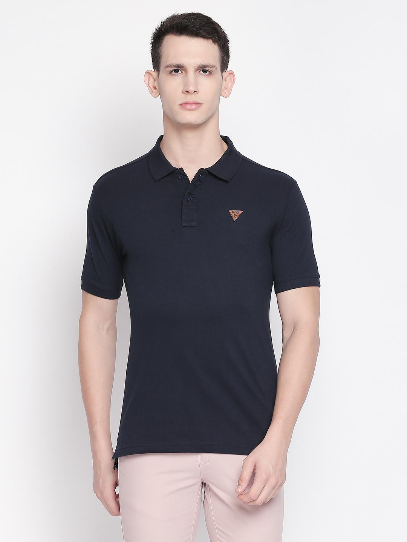 FITZ | Navy Blue Solid Polo Tshirt