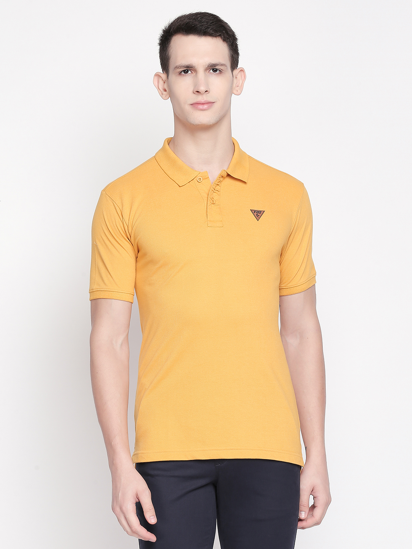 FITZ   Yellow Solid Polo Tshirt