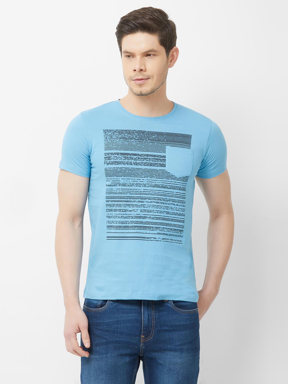 FITZ | Blue Printed Tshirt