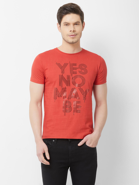 FITZ   Red Typographic Tshirt