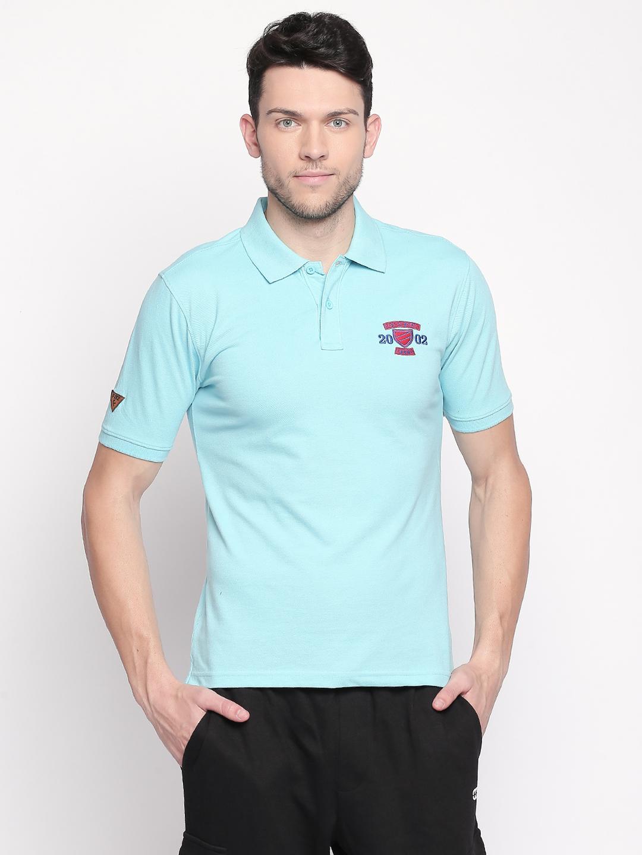 FITZ | Turquoise Solid Polo Tshirt