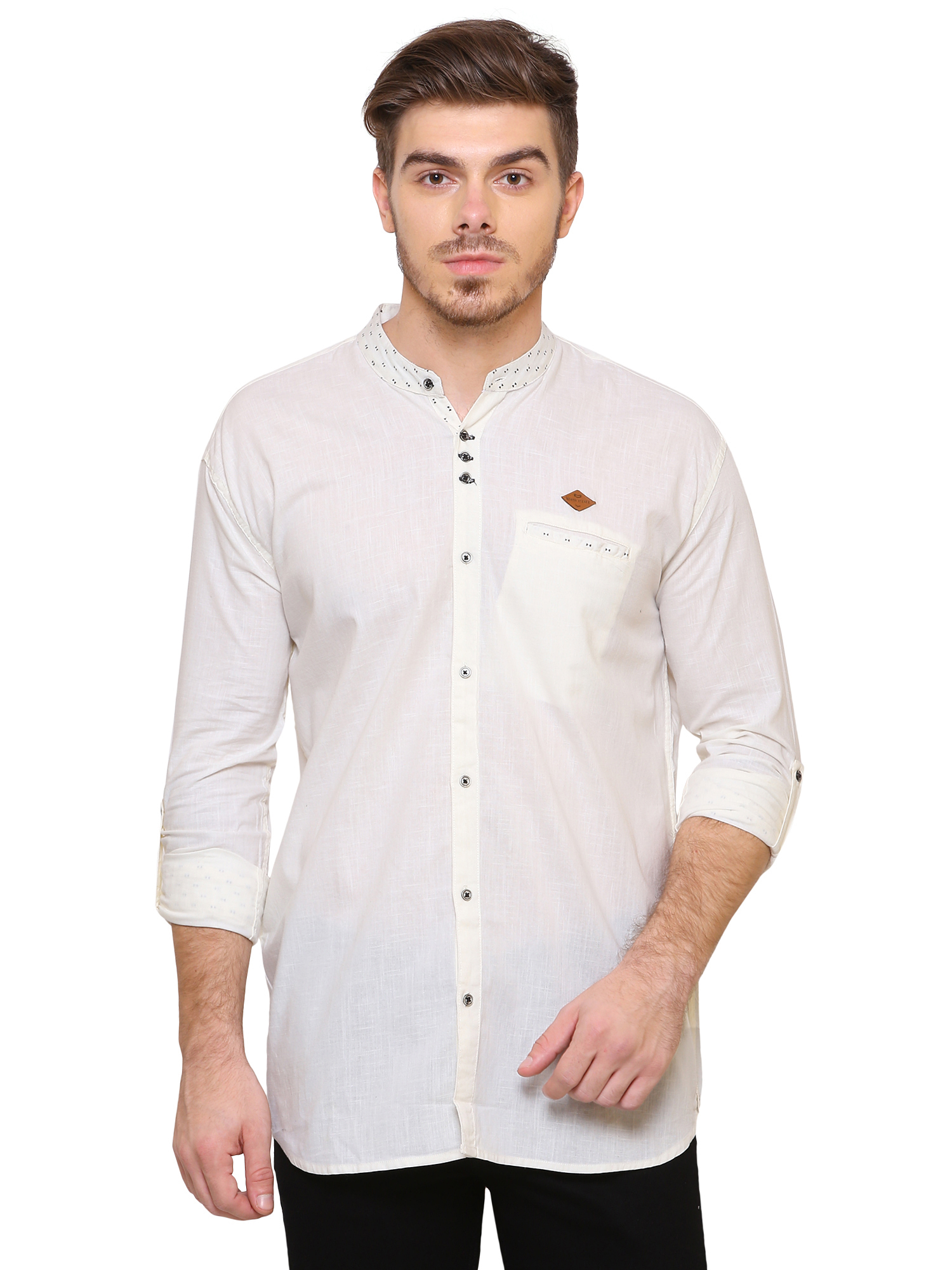 Kuons Avenue | Kuons Avenue Men's Beige Linen Cotton Shirt- KACLFS1165BE