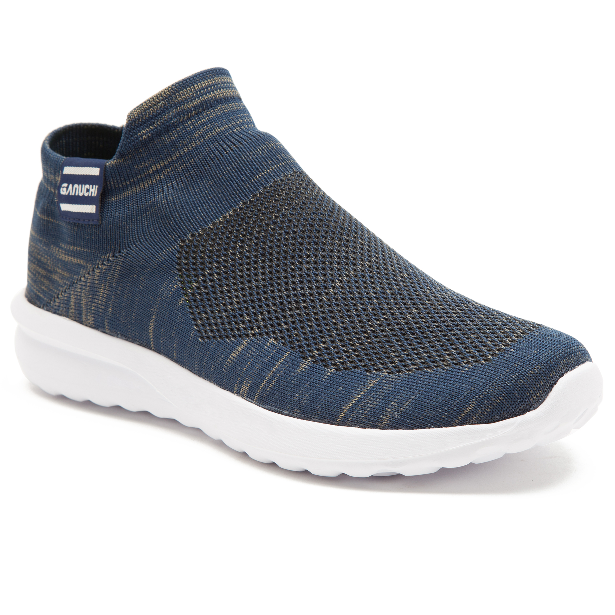GANUCHI   Ganuchi by Franco Leone Men's Mesh Blue Running Shoes
